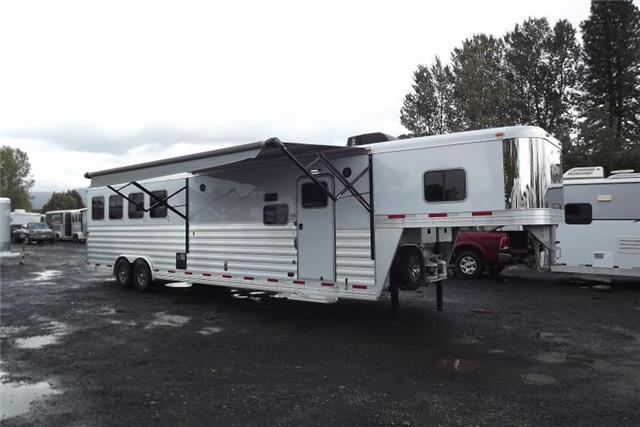 Horse Trailer Trader 2017 Exiss Trailers 8414 Like New Slide Out